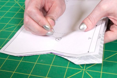 DIY Cell Phone Wristlet - Step 1: Cut the fabric