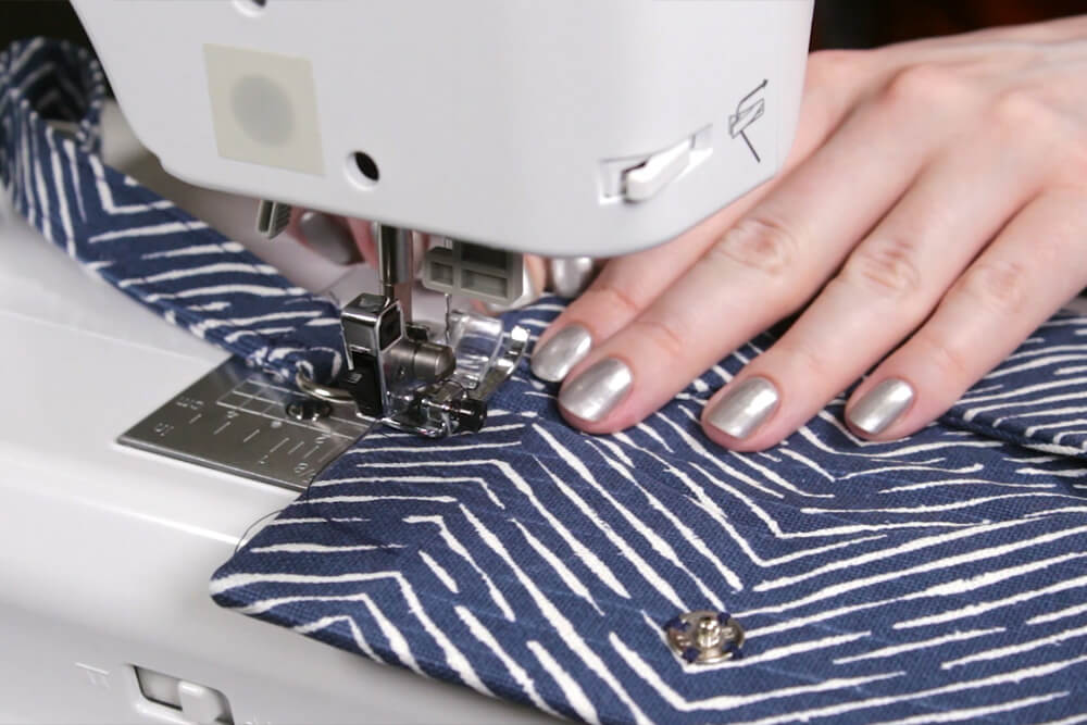 DIY Cell Phone Wristlet - Step 5: Sew it all together