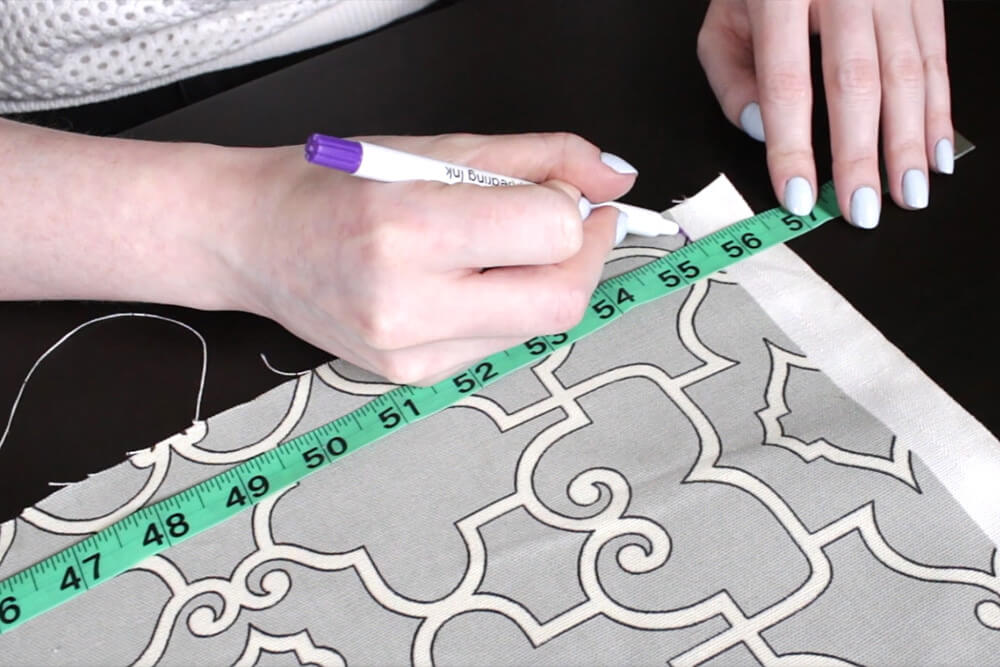 How To Make Pleated Curtains with Pleat Tape & Hooks - Step 1: Measure & cut