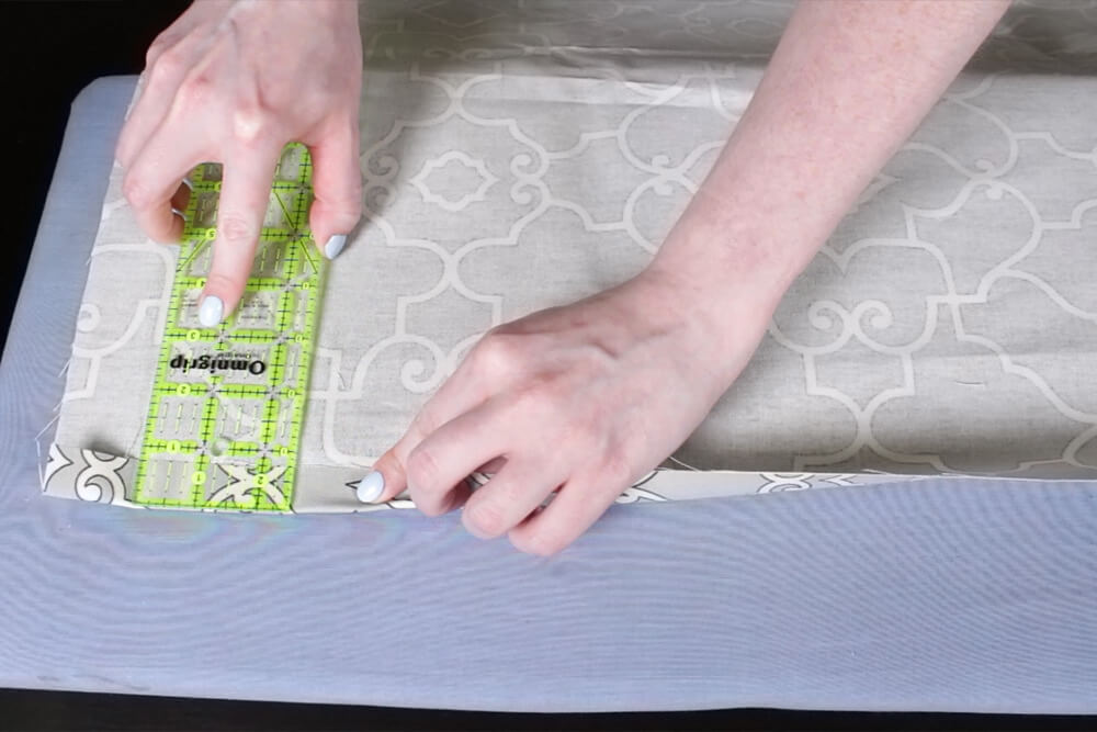 How To Make Pleated Curtains with Pleat Tape & Hooks - Step 2: Sew the sides of the panel