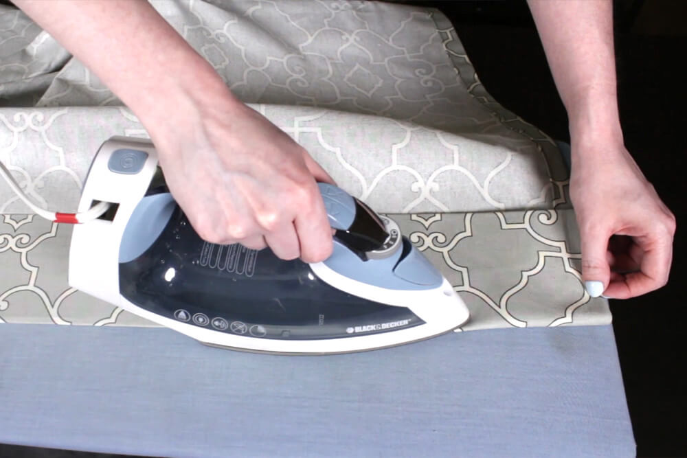 How To Make Pleated Curtains with Pleat Tape & Hooks - Step 3: Sew the top & bottom