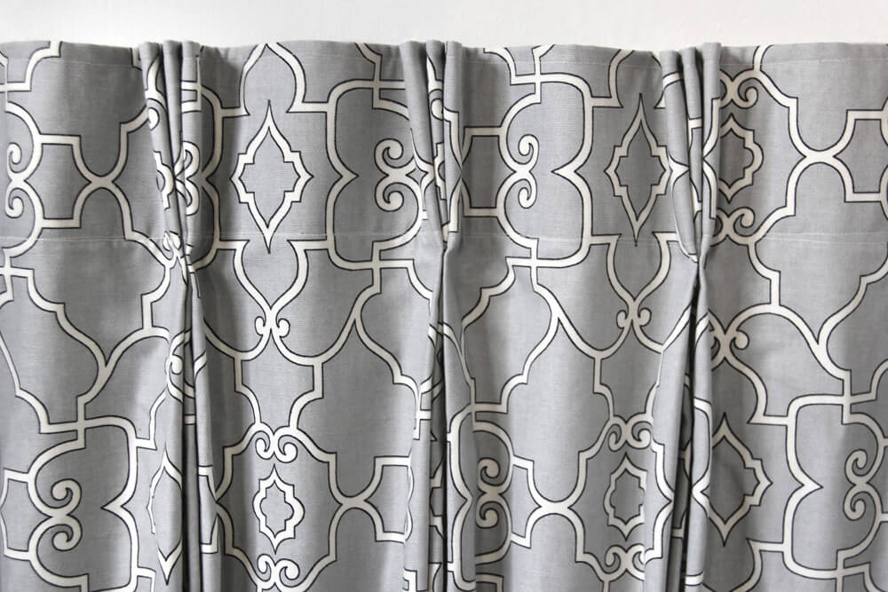 how to make pleated curtains with pleat tape u0026 hooks finished image