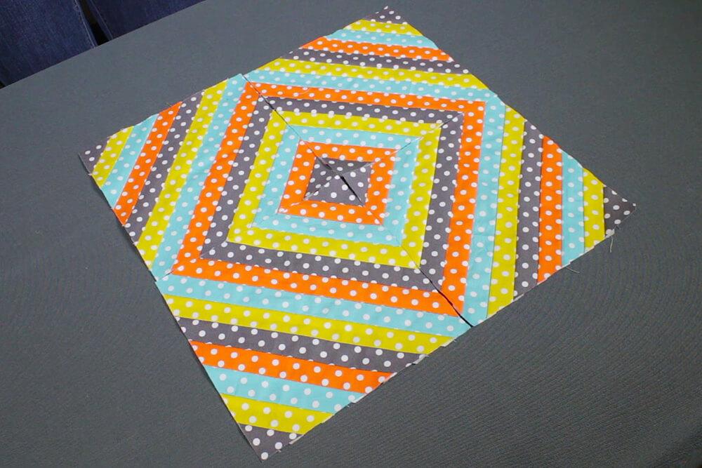 Quilted Throw Pillow - Diamond arrangement