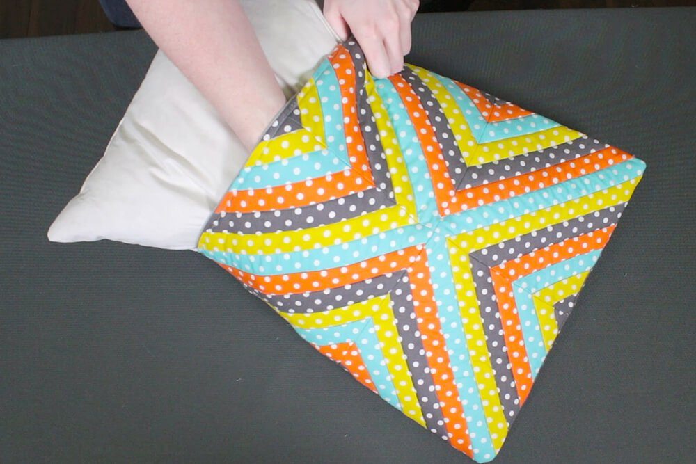 Quilted Throw Pillow - Insert pillow form