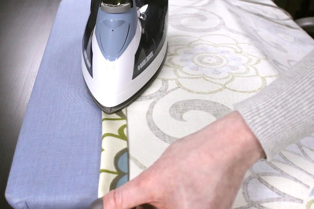How To Make Rod Pocket Curtains - Step 2: Sew the sides of the panel