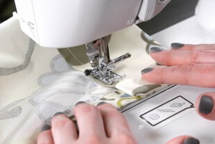 How To Make Rod Pocket Curtains - Step 3: Sew the top and bottom