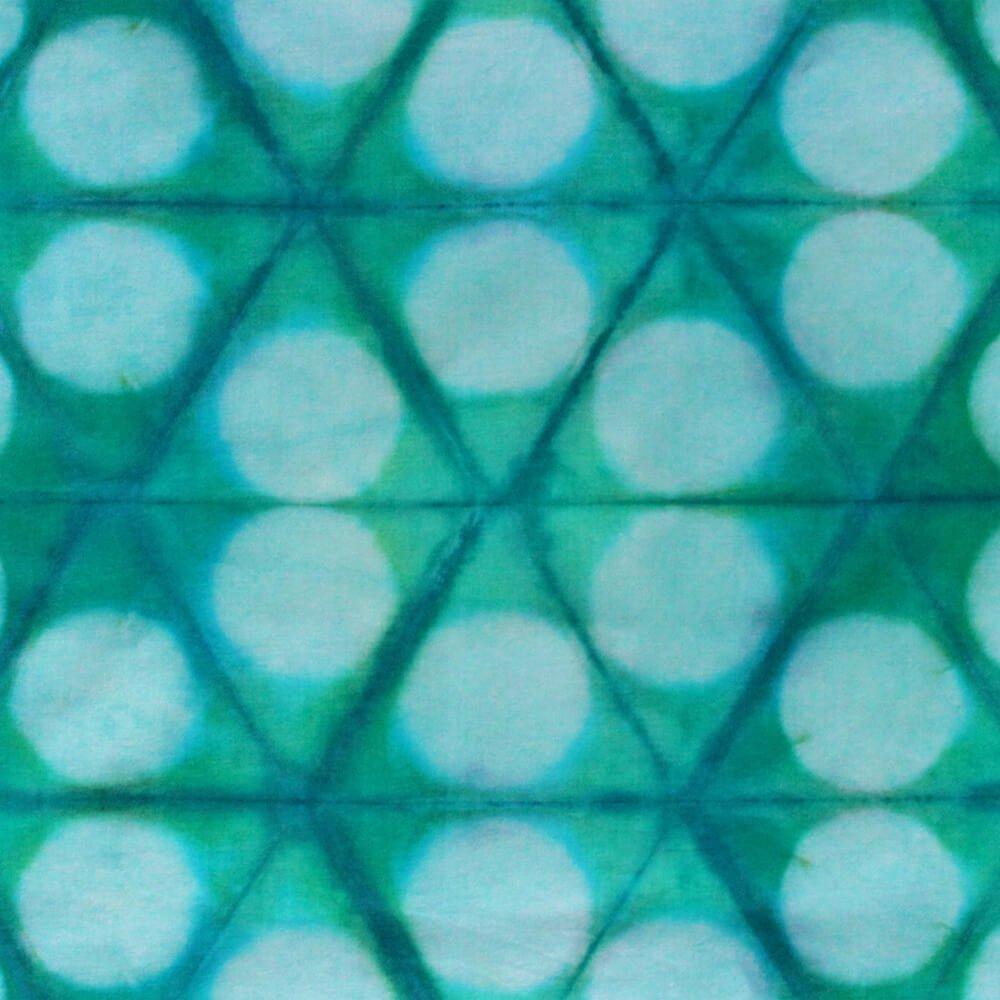 How to Dye Fabric - Shibori Folding Technique - Finished