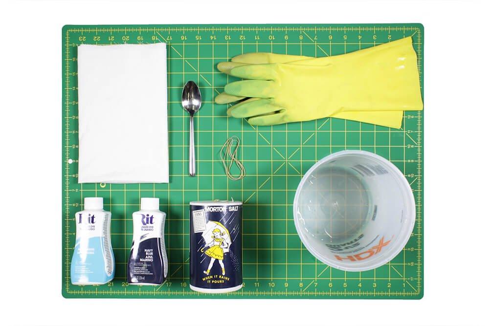 How to Dye Fabric - Shibori Folding Technique - Materials