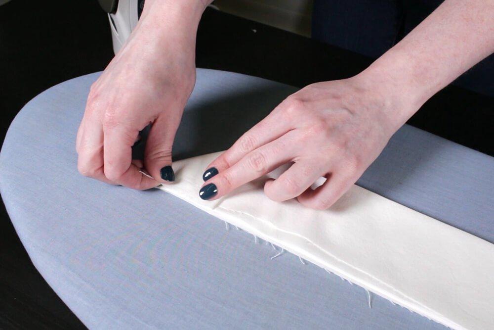 How to Dye Fabric - Shibori Folding Technique - Folding the fabric