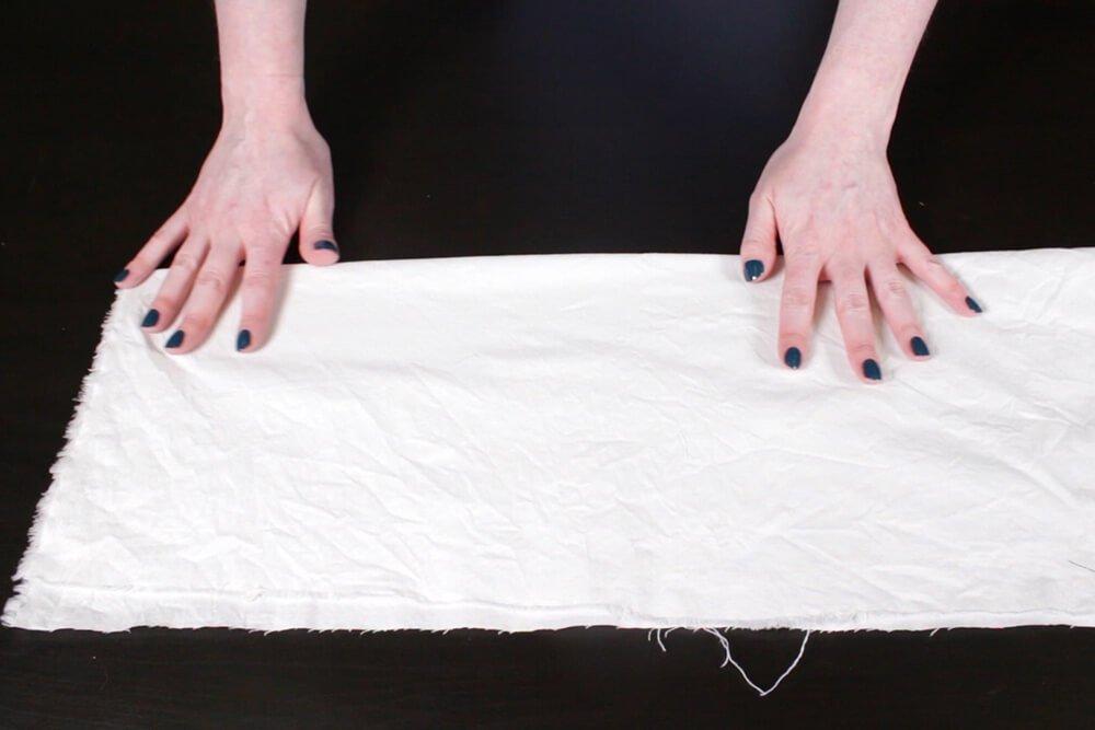 Shibori Pole Dyeing Technique - Fold fabric in half