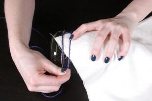 Shibori Pole Dyeing Technique - Wrap twine around fabric
