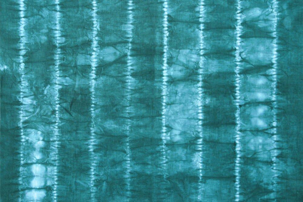 Shibori Stitch Resist Fabric Dyeing - Finished Stripes