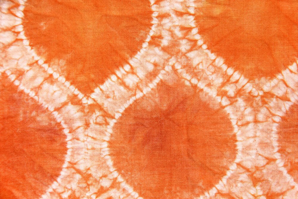 Shibori Stitch Resist Fabric Dyeing - Finished Ogee Detail