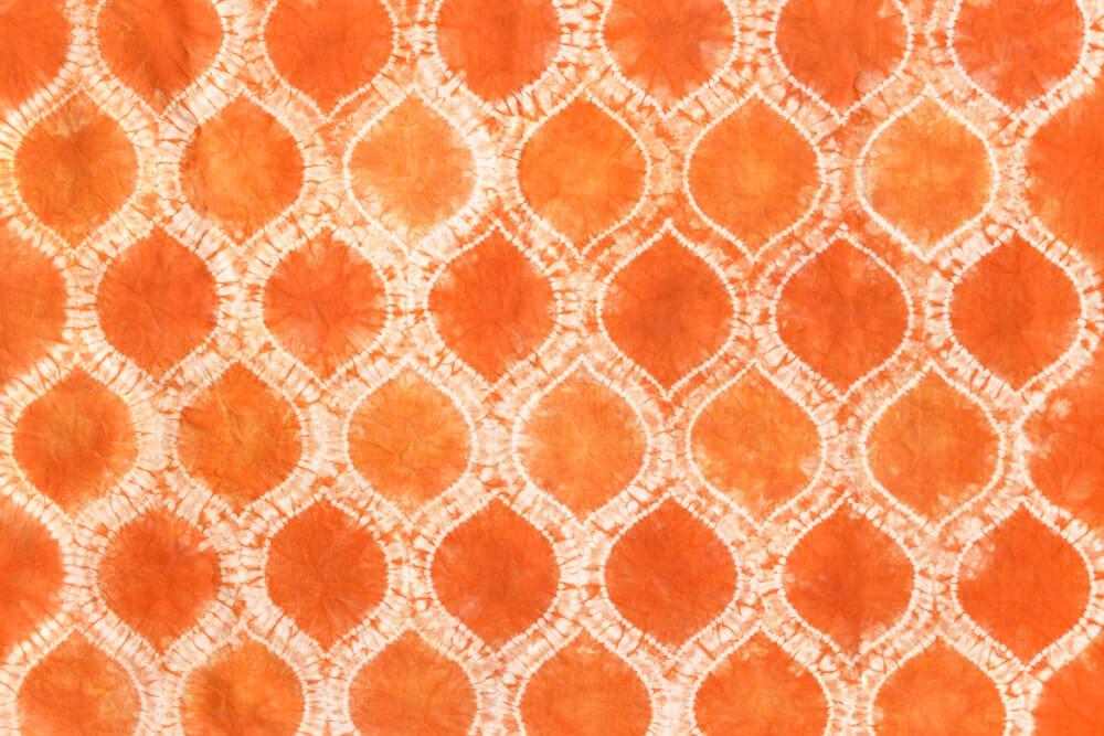 Shibori Stitch Resist Fabric Dyeing - Finished Ogee