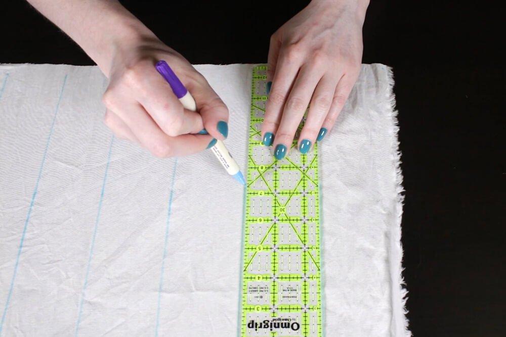 Shibori Stitch Resist Fabric Dyeing - Draw the design