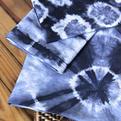 Shibori Tie Dye with Rubber Bands