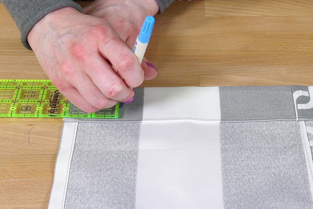 How to Make a Shower Curtain - Step 5
