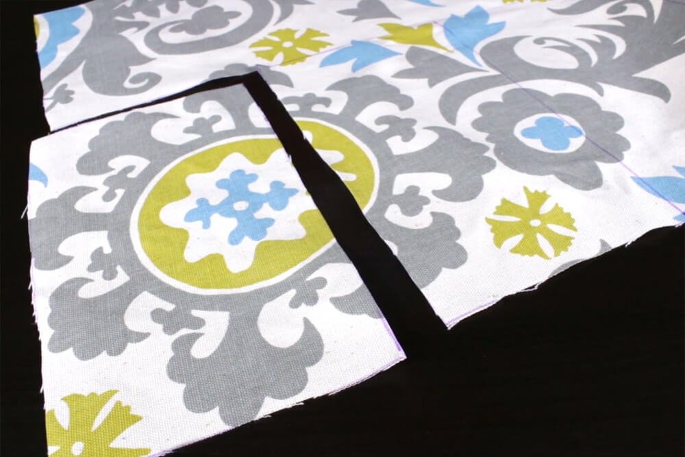 DIY Tab Top Curtains - Step 1: Measure & cut the fabric