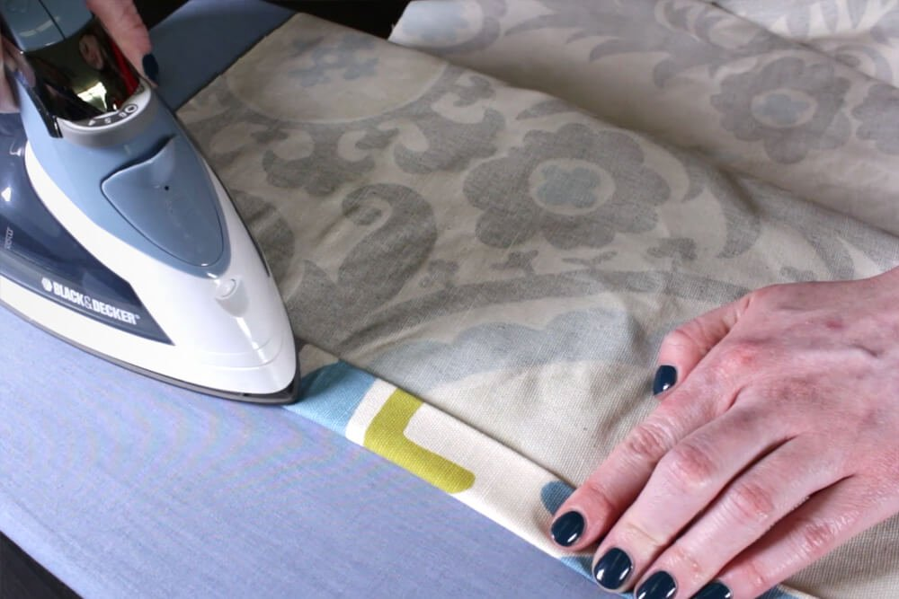 DIY Tab Top Curtains - Step 2: Sew the sides of the panel
