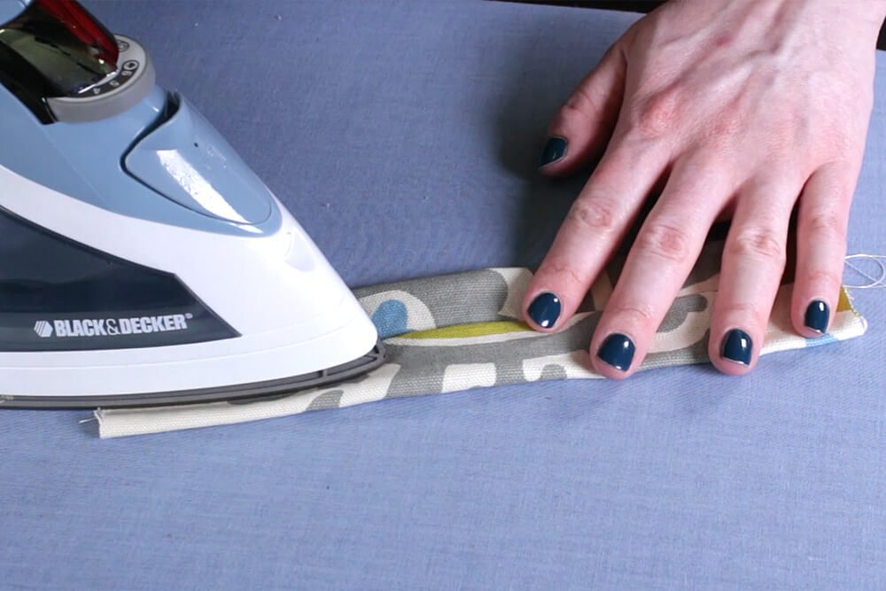 DIY Tab Top Curtains - Step 3: Sew the tabs
