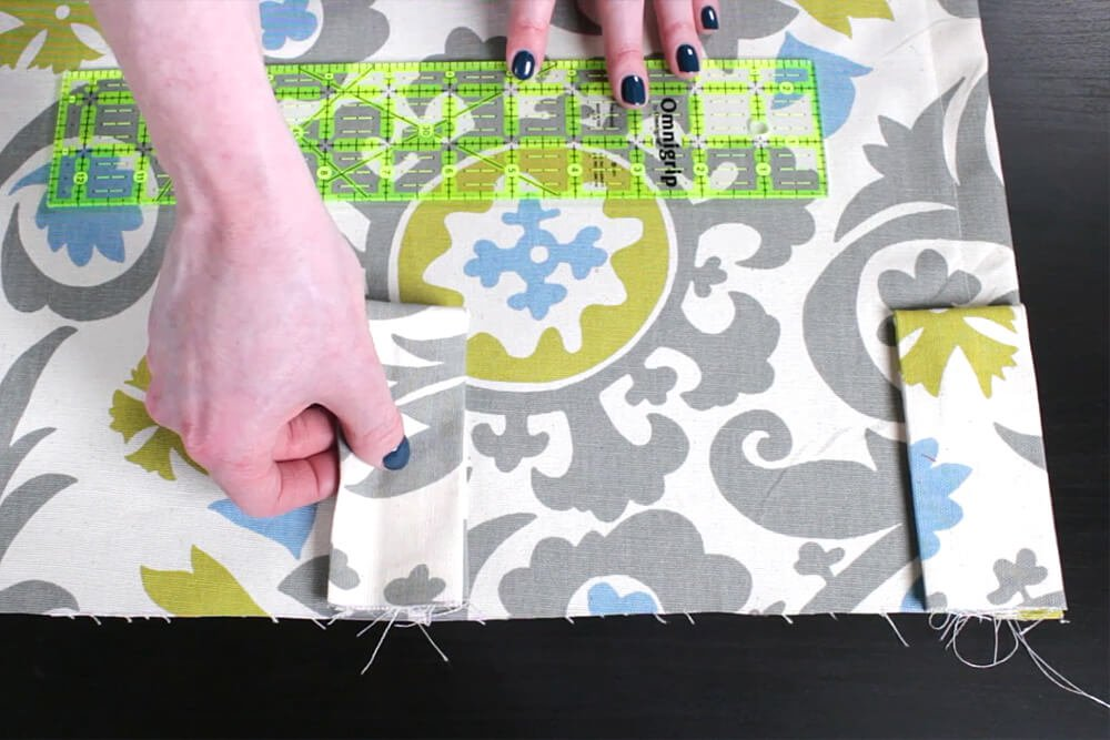 DIY Tab Top Curtains - Step 3: Sew the tabs