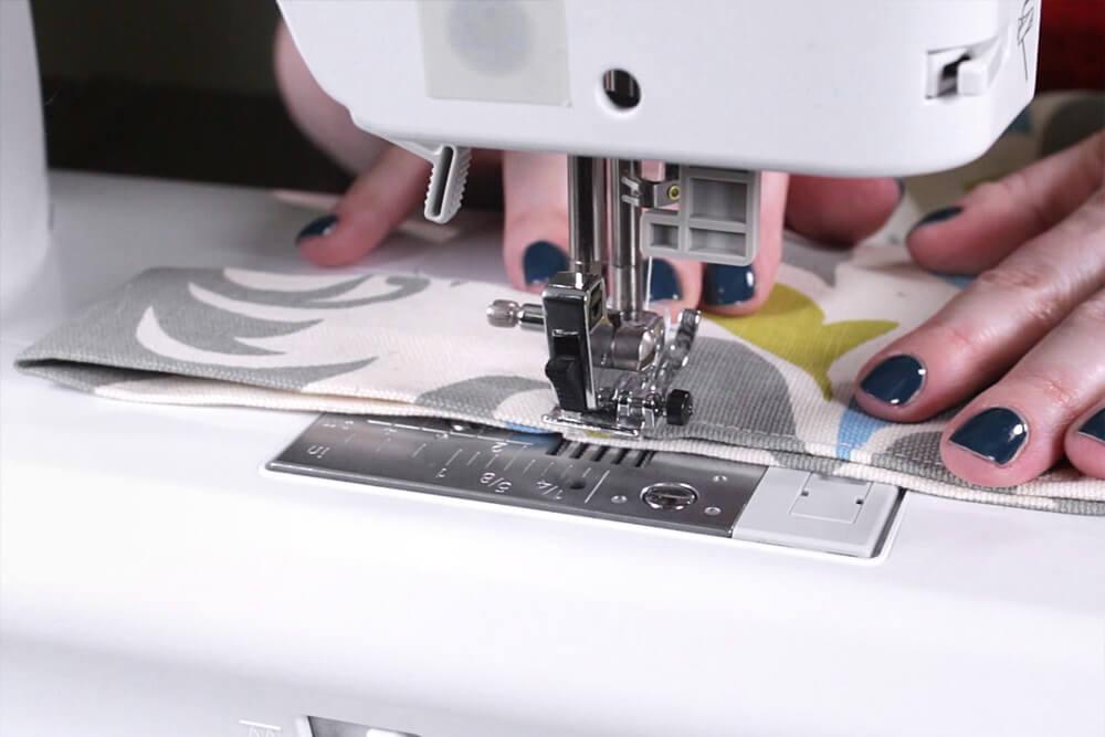 DIY Tab Top Curtains - Step 4: Sew the facing piece