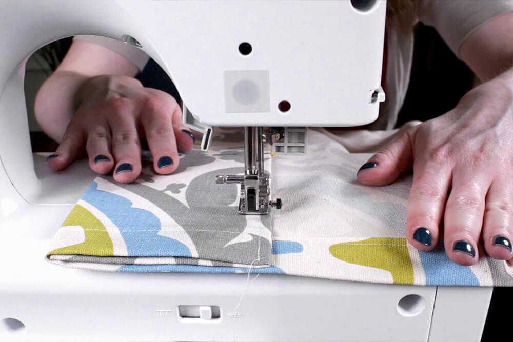 DIY Tab Top Curtains - Step 5: Hem the bottom