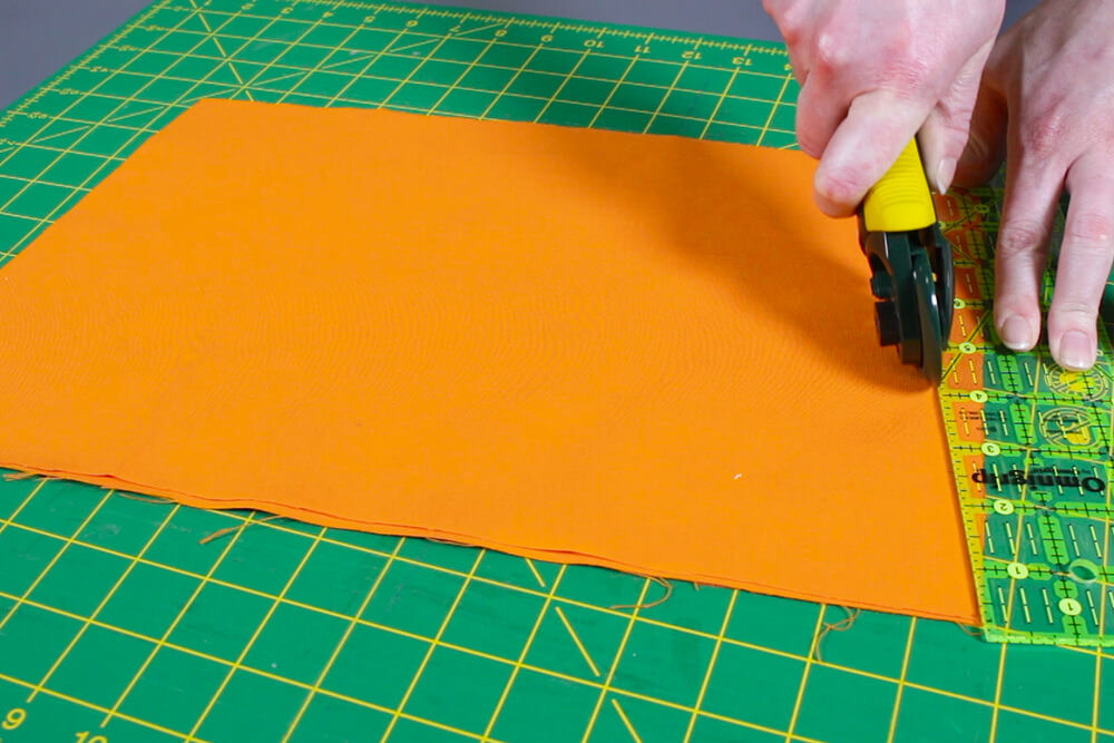 How to Make a Hanging Pocket Organizer - Measure and cut the fabric