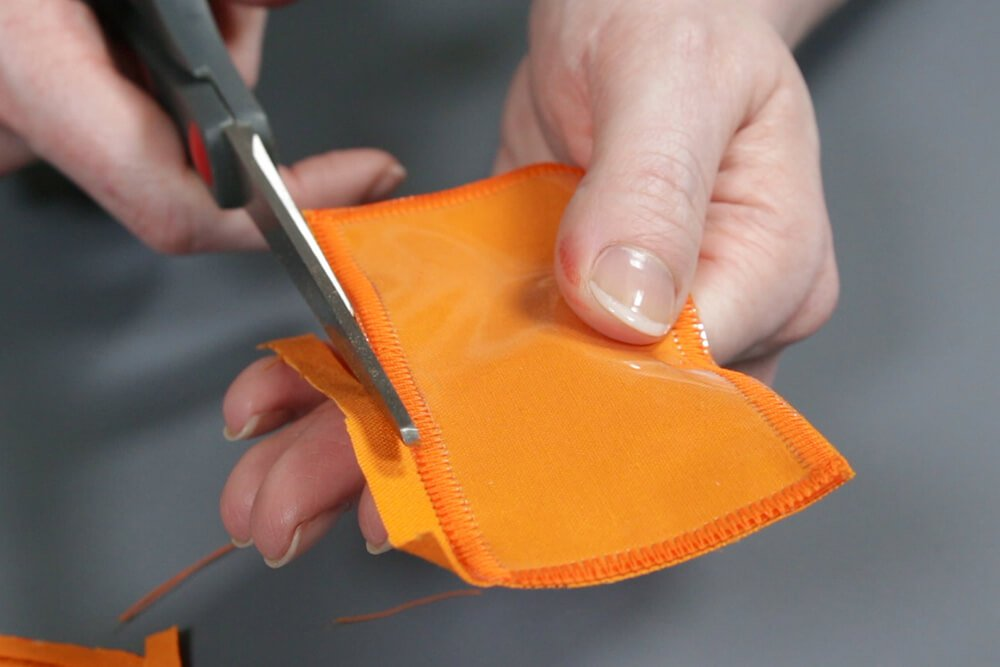 How to Make a Hanging Pocket Organizer - Make clear label pockets