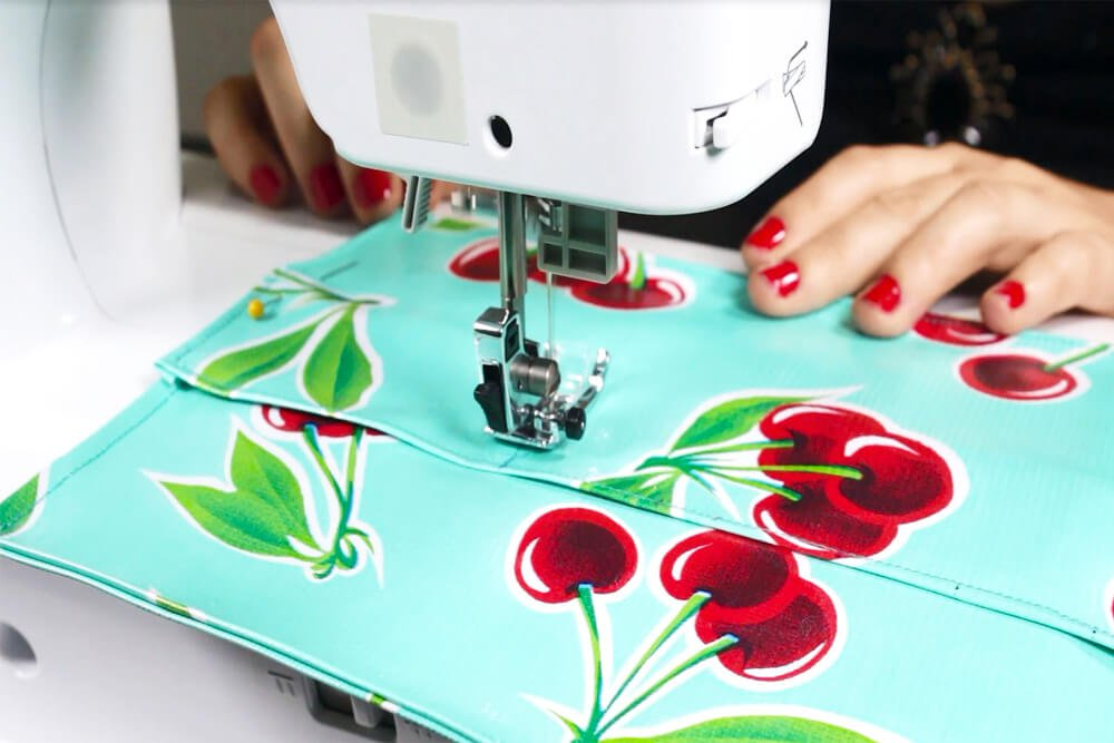 How To Make a Cosmetic Bag with Brush Holder- Stitch the brush holder