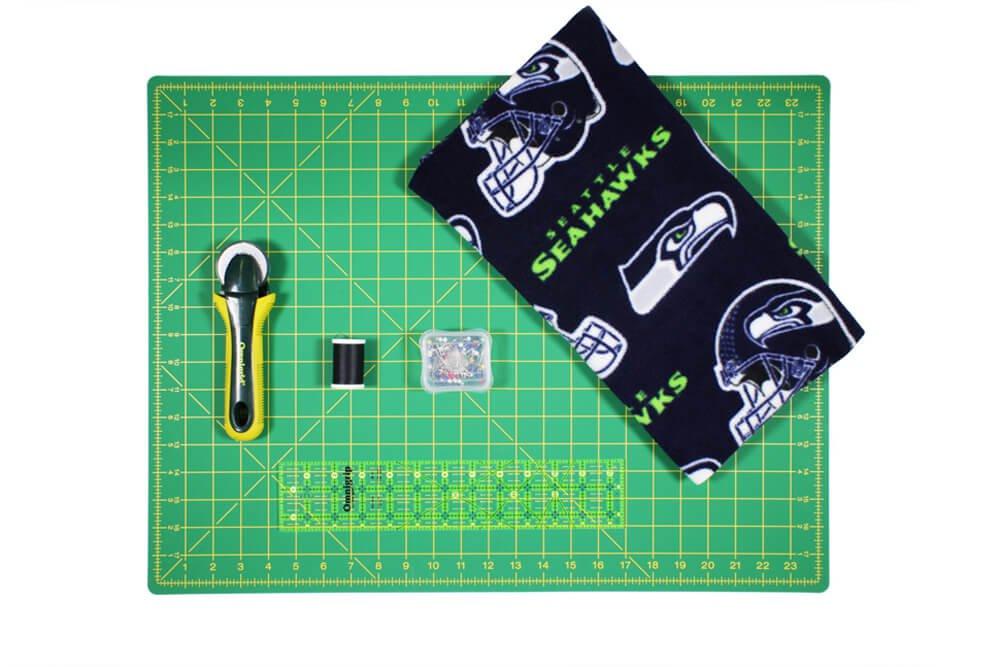 how to make a fleece scarf - materials