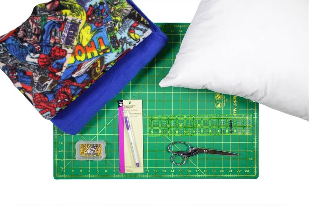 Sew Decorative Pillow Fabric : How To Make a No Sew Fleece Pillow OFS Maker s Mill