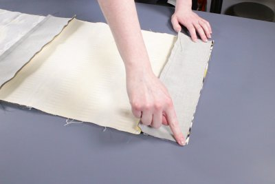 How to Make a Pouf Ottoman - Sew the sides