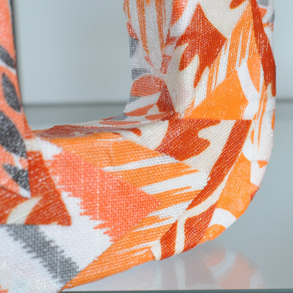 How to Decoupage with Fabric - Finished