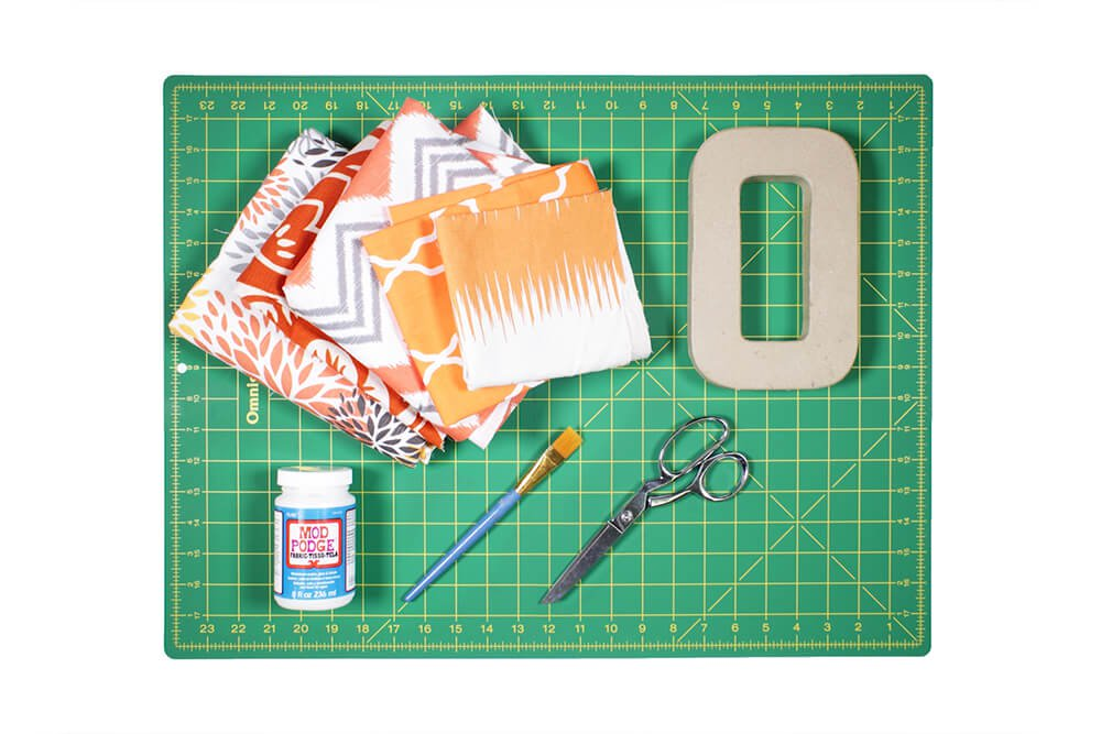 How to Decoupage with Fabric - Materials