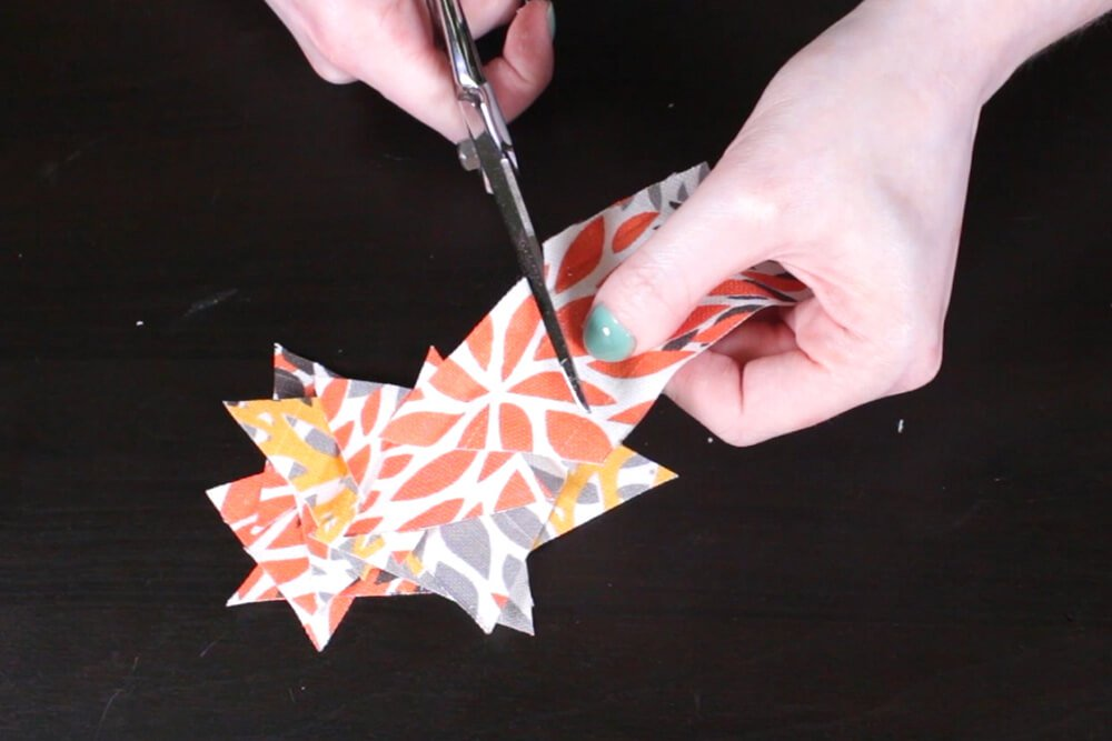 How to Decoupage with Fabric - Cut out shapes