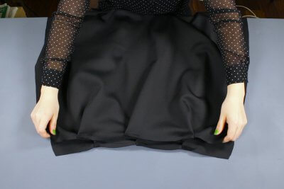 how to make an infinity dress - pleat & sew the skirt