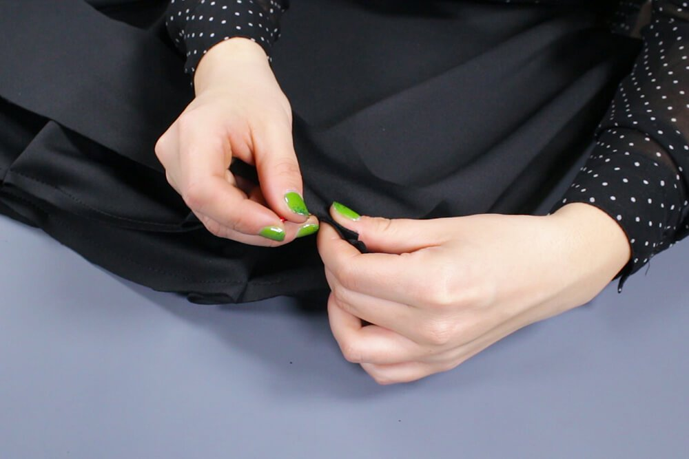 how to make an infinity dress - attach the waistband and straps