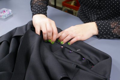 how to make an infinity dress -Attach the waistband and straps