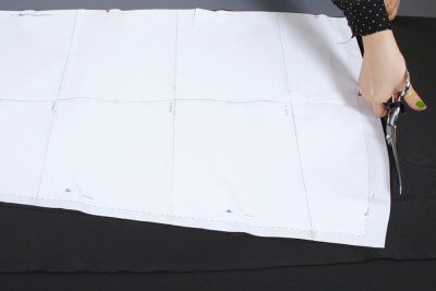 how to make an infinity dress - cut out the pattern pieces