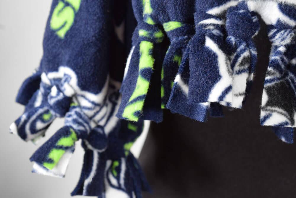 How To Make a Fleece Scarf - Close Up
