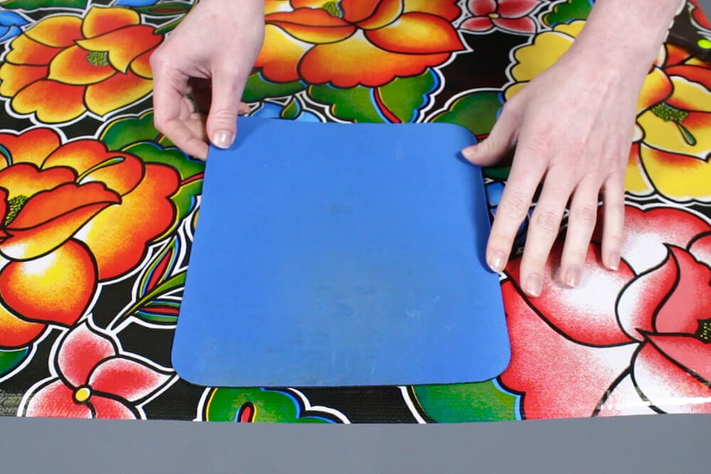 Oilcloth Mouse Pad - Cut out the oilcloth