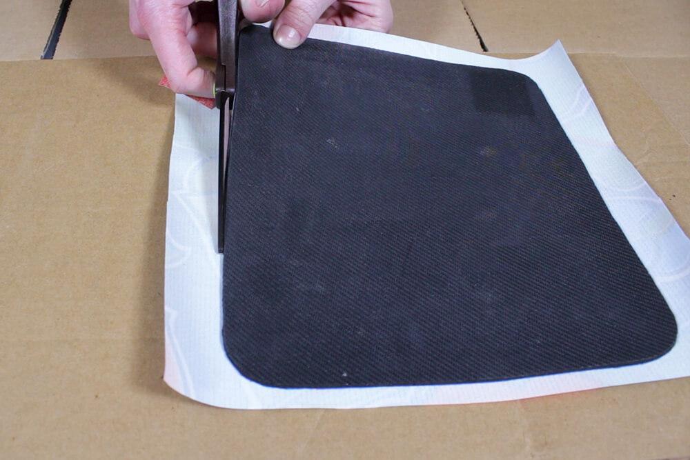 Oilcloth Mouse Pad - Trim the edges