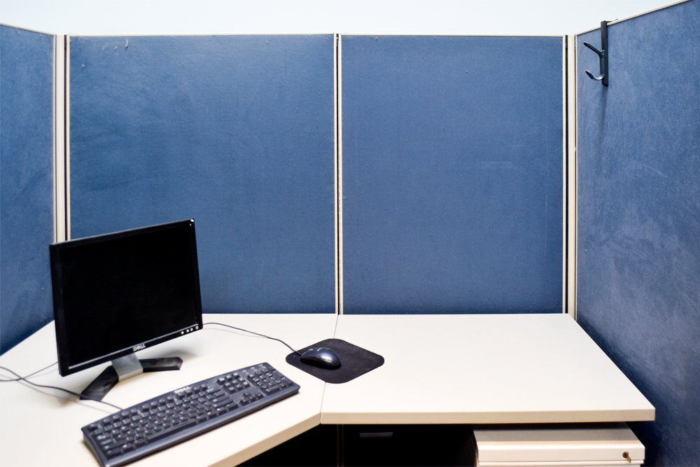 OFS Cubicle Makeover Before - 1