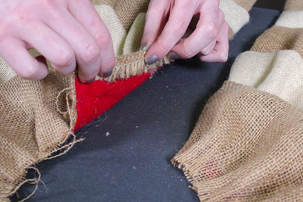 Burlap Tree Skirt - Fold under ends