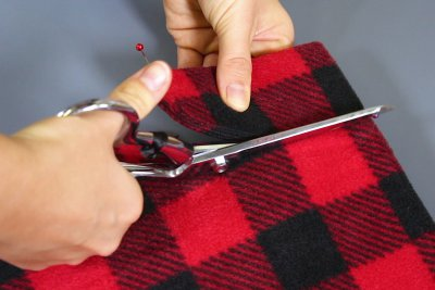 How to Make a Fleece Poncho - Cut out the neckline