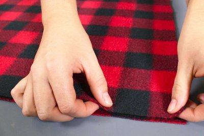 How to Make a Fleece Poncho - Stitch the cowl