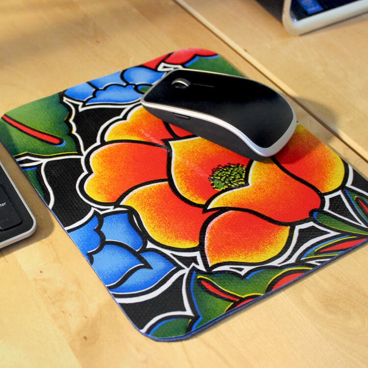 How To Make a No Sew Oilcloth Mouse Pad