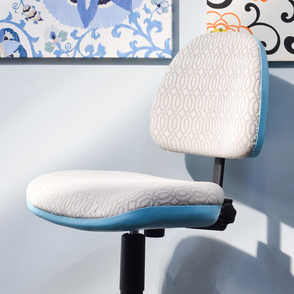 How to Reupholster an Office Chair - Finished
