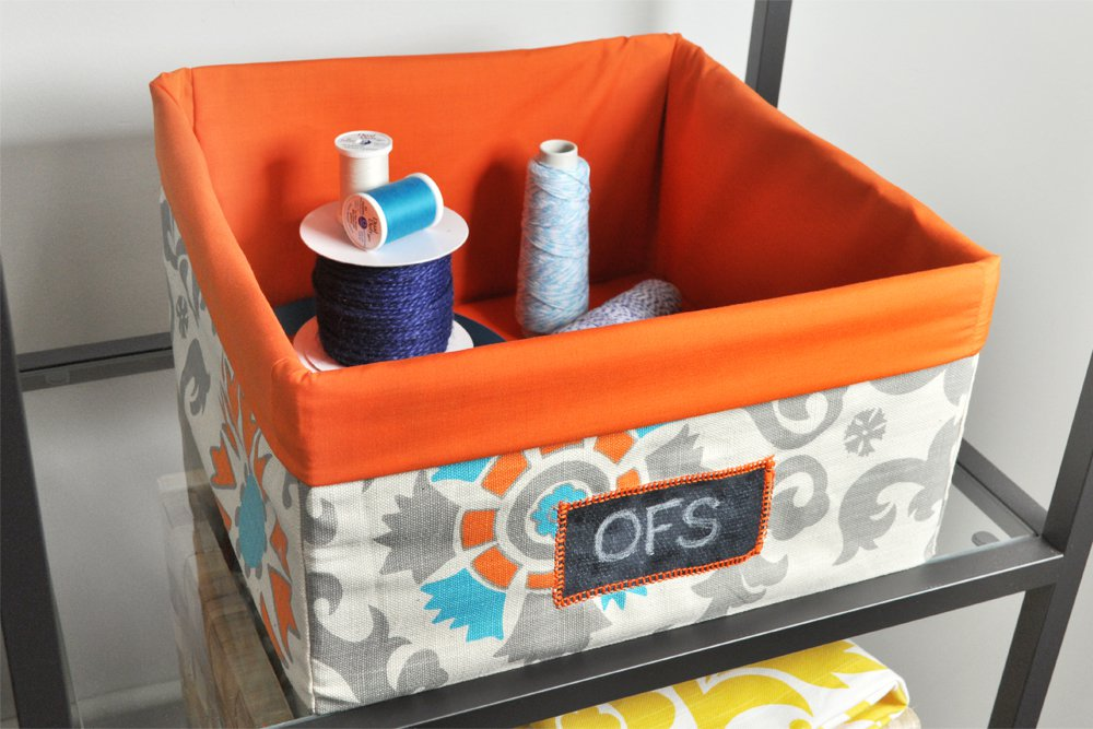ofs cubicle makeover fabric storage bins